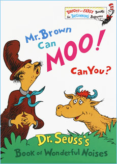 photo regarding Dr.seuss Book Covers Printable named Mr. Brown Can MOO! Can Yourself? Dr. Seuss Children Guide Membership