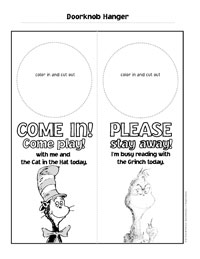 image relating to Cat in the Hat Printable Activities identified as The Cat inside of the Hat Reward Things to do Dr. Seuss Little ones Ebook