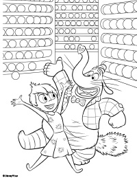 inside out bing bong coloring pages | Bing Bong Inside Out Coloring Pages Sketch Coloring Page