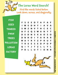 image about Dr Seuss Word Search Printable known as The Lorax Reward Functions Dr. Seuss Small children Reserve Membership