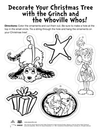 dr seuss activity page - How The Grinch Stole Christmas Activities