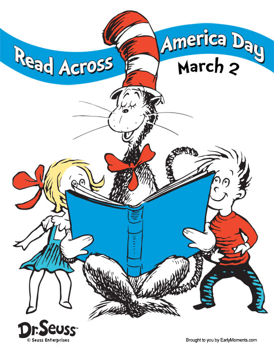 picture regarding Read Across America Printable known as Read through Throughout The united states Working day Dr. Seuss Youngsters Ebook Membership