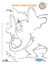 Free Printable Horton Games & Activities | Dr. Seuss Kids Book ...